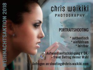 Weihnachtsaktion 2018 - Portraitshooting mit Chris Waikiki